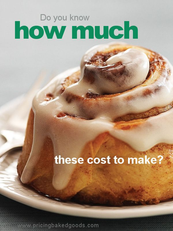 Baked goods recipe cost calculator