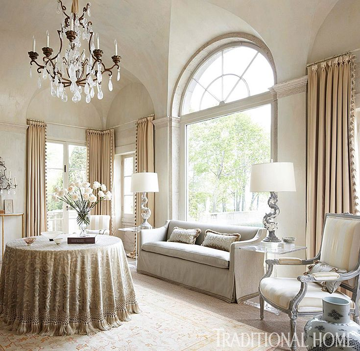 Pale gray and champagne float throughout this showhouse for Www traditionalhome com