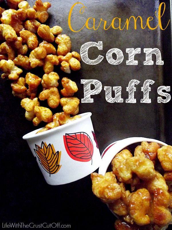 Caramel Corn Puffs- bought these at a bake sale today and thought I'd died and gone to heaven..