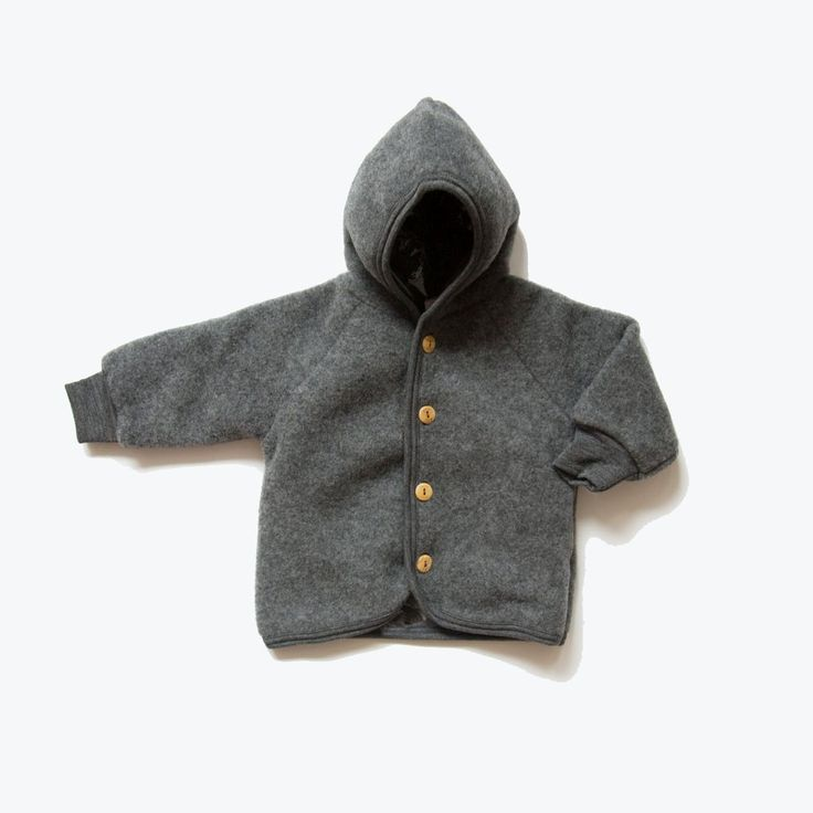 Exclusive 100 Organic Merino Wool Supersoft Fleece Jacket Slate Grey 0m 8y In 2020 Fleece Jacket Wool Kids Clothes Baby Outerwear