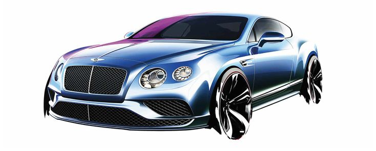 Bentley Continnental GT Sketch