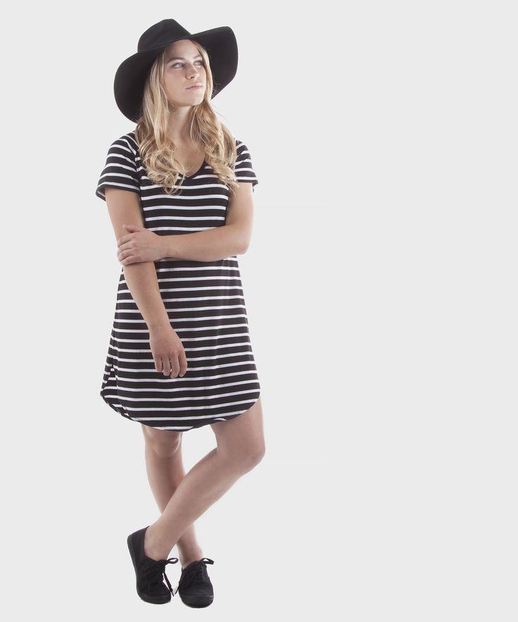 Adriatic Dress     Black Stripe