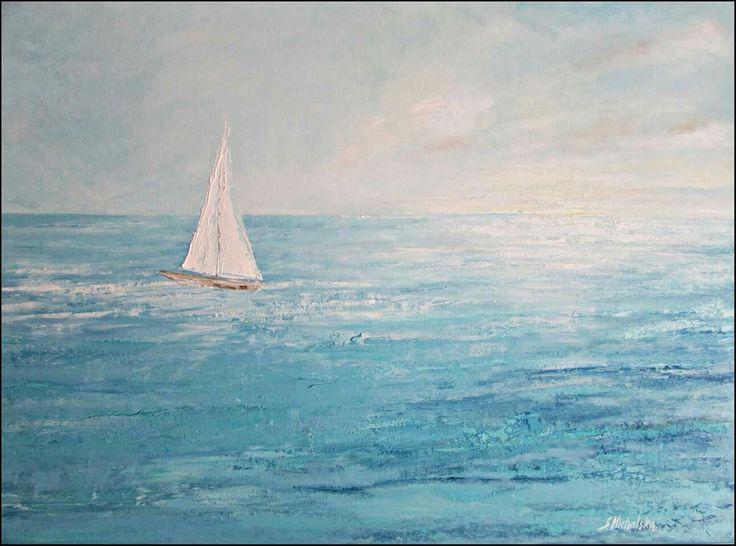 Obrazy olejne pejzaż morski, obrazy olejne marynistyka Sylwia Michalska www.artpracownia.wordpress.com
