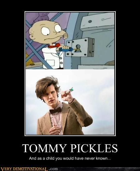: Doctors Whorugratseleven, Brilliant Rugrats, Doctors Whovian, Funny Pictures, Geek Life, Funny Stuff, Dr. Who, Tommy Pickled, Geeky Side