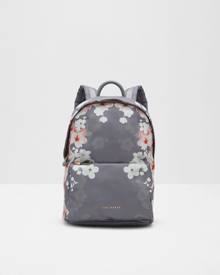 Oriental Bloom backpack - Light Gray | Bags | Ted Baker