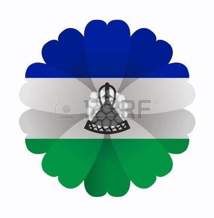 illustration of flower Flag Lesoto photo