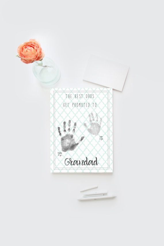 Father's Day grandfather artwork DIY printable by Papierscharmants