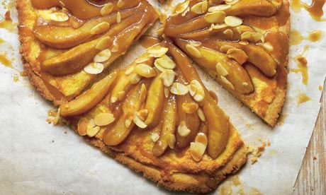 Hugh Fearnley-Whittingstall's pear and frangipane tart: It's incredibly easy to make. Photograph: Colin Campbell for the Guardian