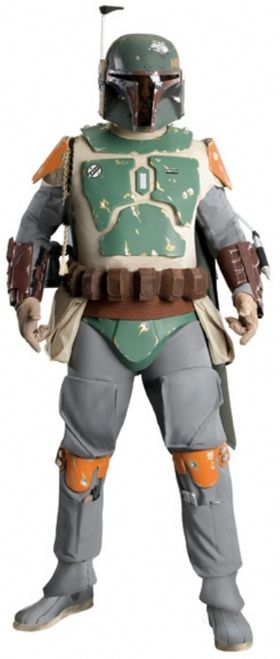 Supreme Edition Boba Fett Star Wars Adult Costume - This is an officially licensed Supreme Edition Boba Fett costume. Get ready for battle in this Supreme bounty hunter Boba Fett costume. This amazing costume includes a one piece grey jumpsuit that is made of a superior quality stretch knit. The jumpsuit features ammo pockets and a zipper in the back for easy dressing. #bobafett #starwars #mens #yyc #calgary #costume