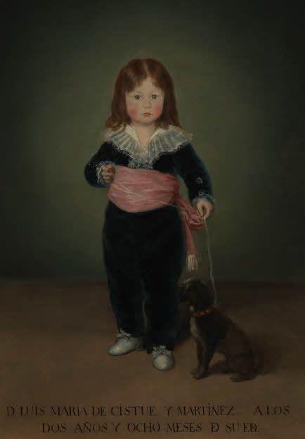 Francisco de Goya, Portrait de Luis María de Cistué y Martínez, 1791. Paris, musée du Louvre (ancienne collection de Pierre Bergé et Yves Saint Laurent).