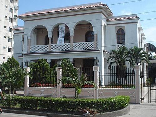 Beautiful houses in the old Prado neighborhood in Barranquilla, Colombia