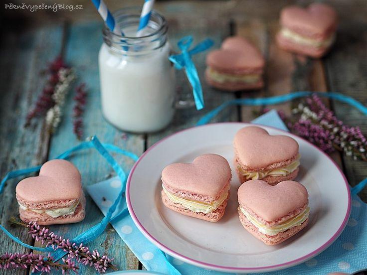 Srdíčkové makronky - Valentine's Macarons