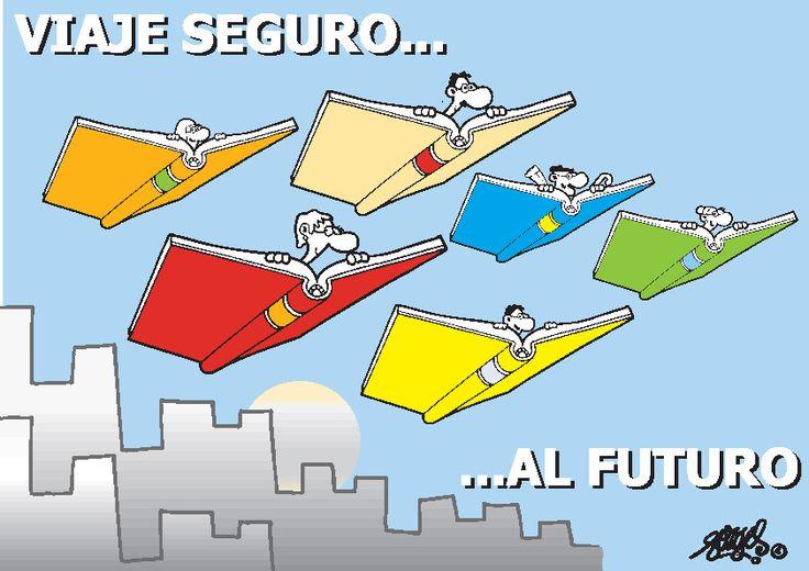Viaje seguro al futuro by Forges