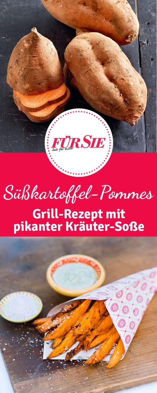 Rezept: So leicht lassen sich Süßkartoffel-Pommes auf dem Grill zubereiten: http://www.fuersie.de/kochen/grillrezepte/artikel/suesskartoffel-pommes