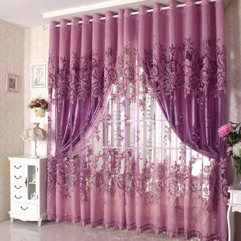 Purple Bedroom Curtains
