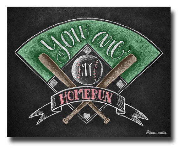 Baseball Decor Baseball Sign Baseball Art Love by TheWhiteLime, $17.00