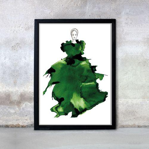 NYHET! Jade, 50x70cm. Art by Anette Carlsson Moberg  www.patternplan.se