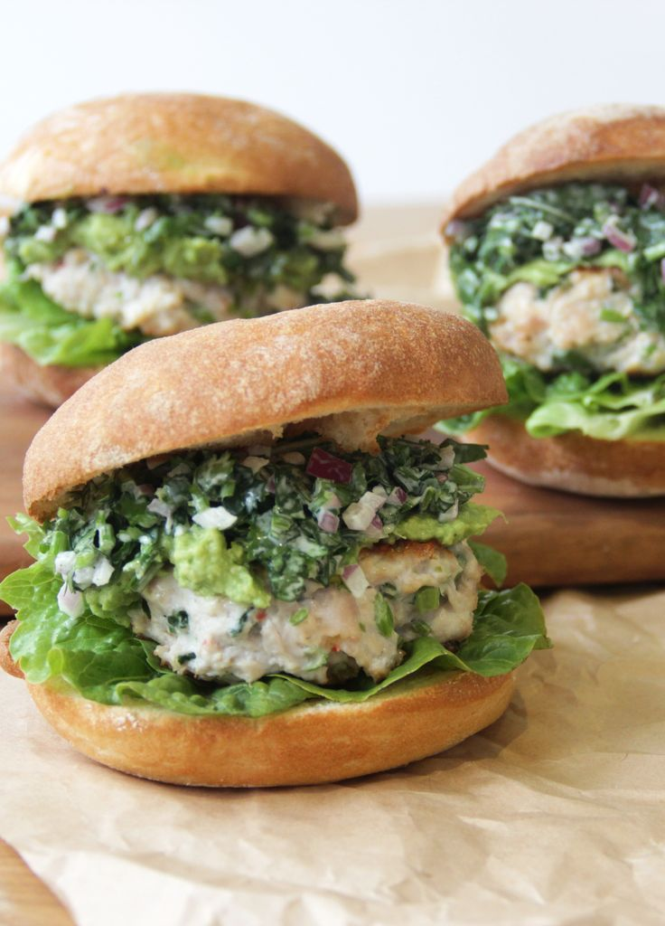I Quit Sugar - Thai Chicken Burgers with Coriander Slaw recipe. Replace buns with mushrooms.
