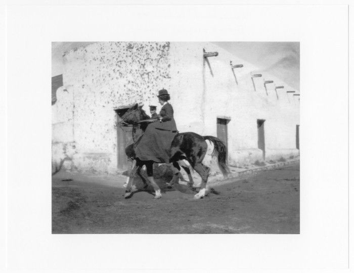 Lady on Horseback, Laredo, Texas, c. 1910