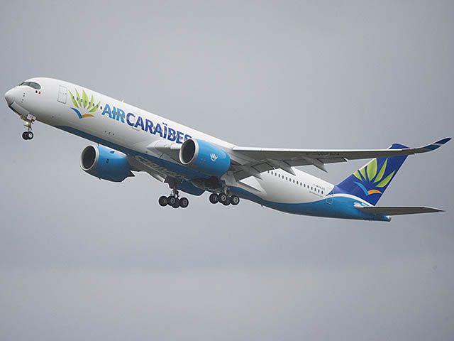L'Airbus A350 d'Air Caraïbes a décollé