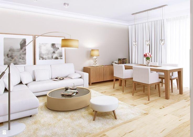 Mieszkanie z nutą klasyki na warszawskich Bielanach – Tissu. - zdjęcie od TissuArchitecture - Salon - Styl Klasyczny - TissuArchitecture