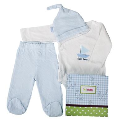 Baby Minene Blue Gift Box Set, Leggings, Vest and Hat