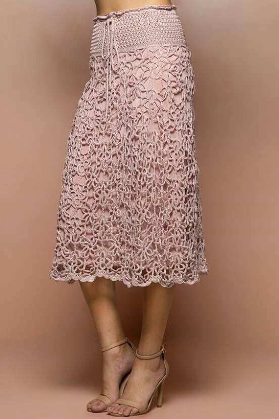 ecff9ec3f Bella falda | moda | Crochet, Crochet lace y Crochet skirts