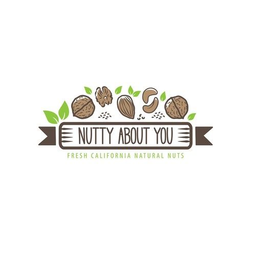 Logo design for a company selling fresh and roasted nut packages to consumers.