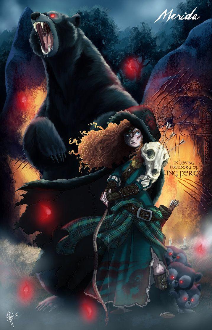Twisted Princess: Merida by jeftoon01 on deviantART