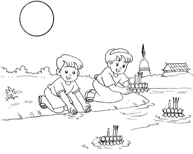 ภาพลายเส นระบายส ว นลอยกระทง สำหร บน องอน บาล สน บสน นคนไทยให ร กการอ าน ดาวน โหลดการ ต น วาดภาพระบายส ห ดระบายส หน าส ภาพศ ลป สม ดระบายส
