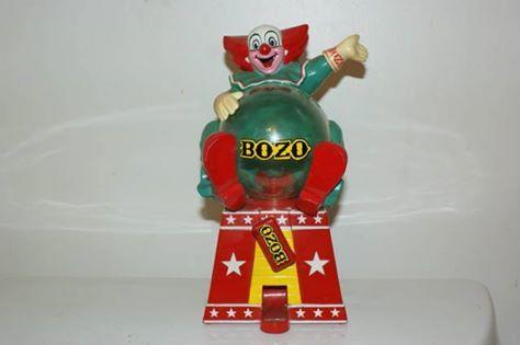 RARE 1994 BOZO THE CLOWN TABLE TOP GUM BALL MACHINE