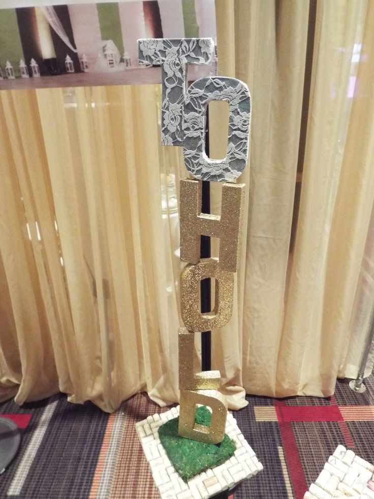 """To Have"" ""To Hold"" altar pillars by The~Lil~Things! Customize them to make them modern, rested, glittery or romantic. What ever your wedding day ceremony backdrop desire!"