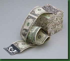 DIY::Fun and Creative Ideas for Giving Money as Gifts - Money Machine using a tissue box