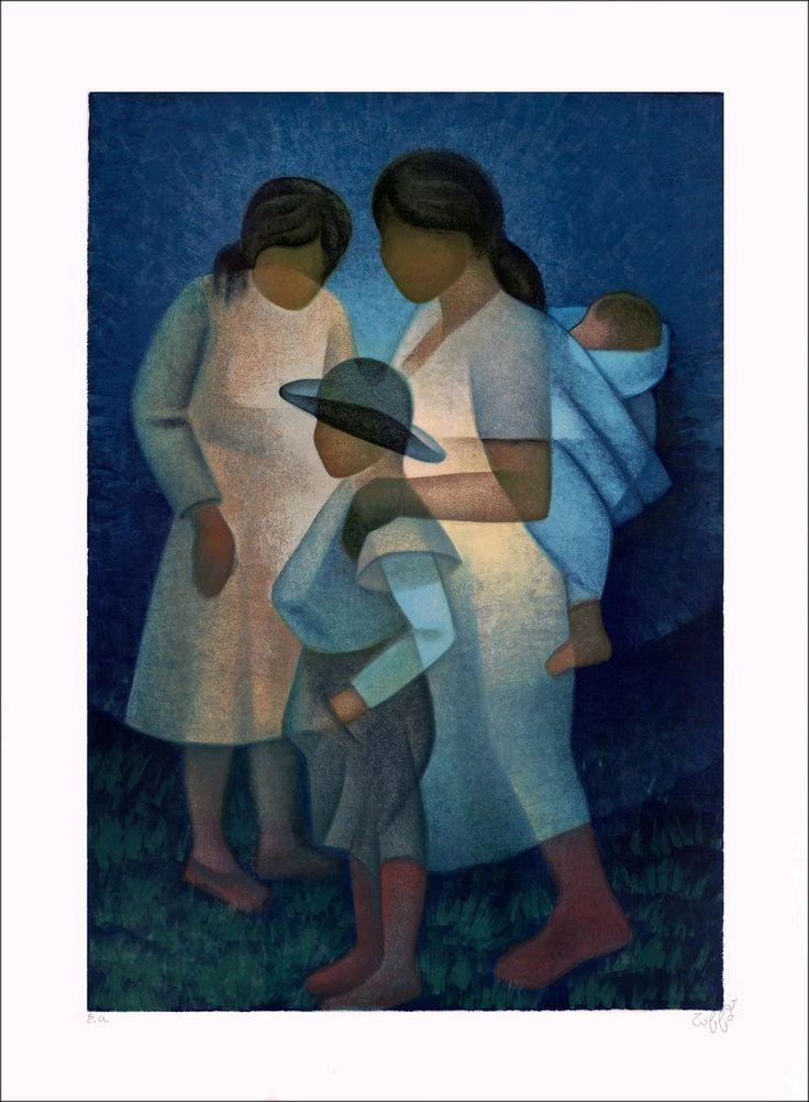 "TOFFOLI Louis - Lithographie Originale ""Espoir"" 77x56cm - 1977"