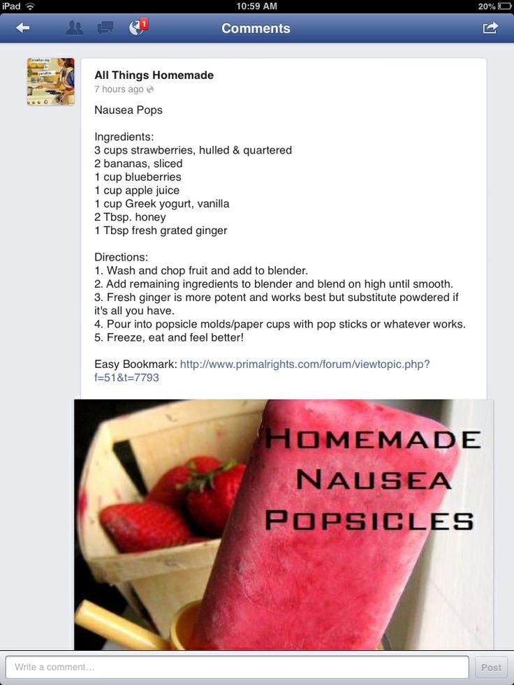Healthy anti nausea snack!
