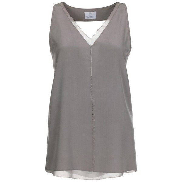 96d38c80f54a4 Sleeveless blouse top in pure silk (10.240 RUB) ❤ liked on Polyvore  featuring tops