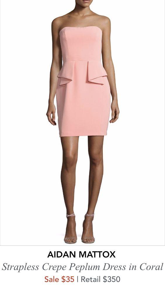 SALE Blush Strapless Dress by Aidan Mattox - Size 6