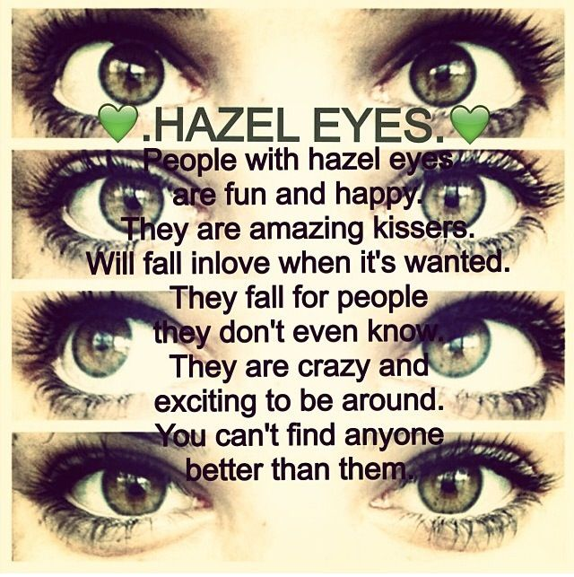 my hazel eyes My eye doctor actually said that hazel is not a true color, but rather a blend of other colors, and only people with hazel eyes will have the dark ring in contrast with the color i have to say though, my eyes are my best and favorite feature 🙂.