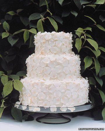 Florale Hochzeitstorte von #MarthaStewart