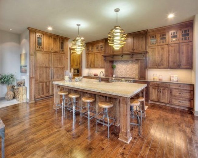 Image Result For Rustic Cherry Cabinets Rustic Cherry Cabinets Home Cherry Cabinets Kitchen