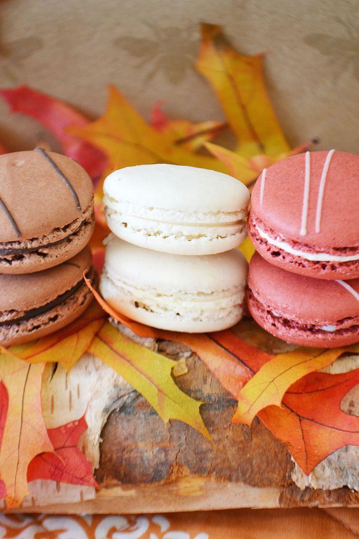 Chocolate, Vanilla and Red Velvet Macarons from Bake Sale Toronto.