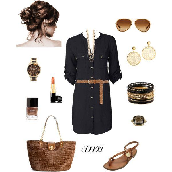 Black Shirt Dress, created by dawndayiannelli