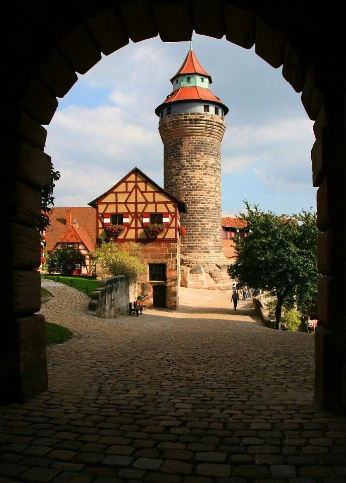 Nürnberg Castle - Germany, actually in the center of Nurnberg with the city around it's walls