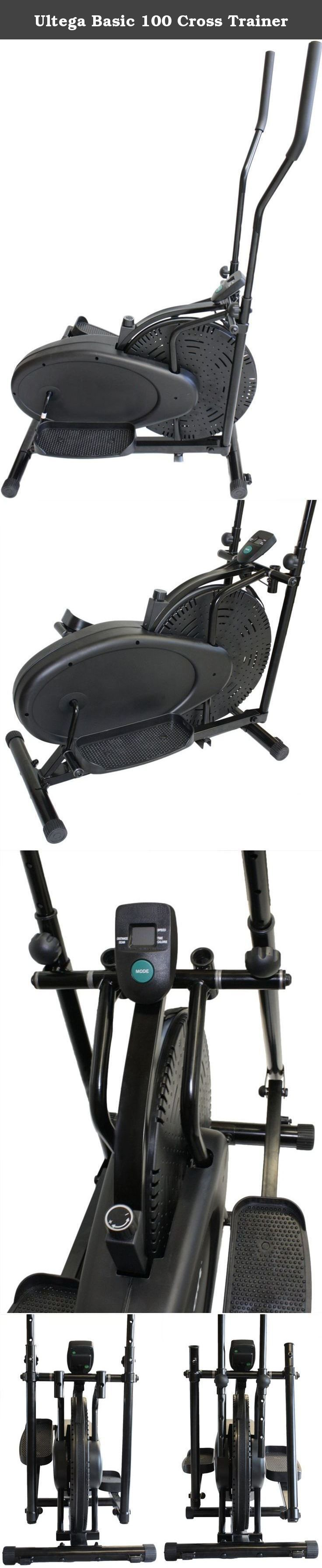 Ultega Basic 100 Cross Trainer. TUV/GS tested - with a chain/fanwheel system The grip height is 4-way adjustable / Grips can be placed in swinging or fixed positions Featuring a 2-way principle for training the legs, hips, posterior, arm & shoulder muscles Training computer with multifaceted functions: time, distance, scan, calories, speed The maximum user weight is up to 242 lbs. (110 kg).