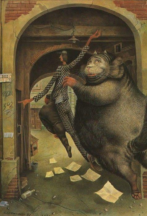 мастер и маргарита картинки бегемота туники