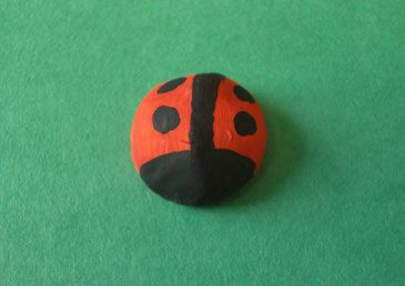 Ladybug Tie Tack-- made from clay and painted! Even the kids can make this!