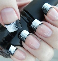 """White to Black Glitter Gradient"""