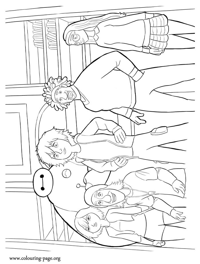 How About To Print And Color The Big Hero 6 Superhero Group Have Fun With