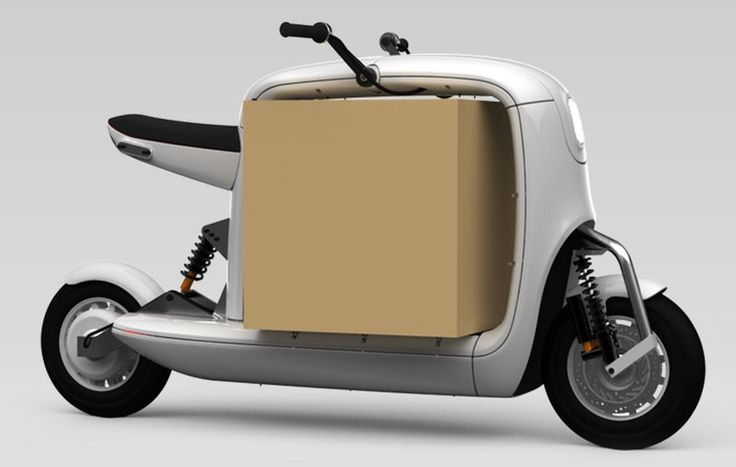 Lit Motors Kubo an electrical Vespa which also transports up to 150 kilos