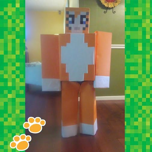 I made this Minecraft Stampy Cat Costume for my son and he loved it! It was really easy to make. #minecraft #minecraftstampy #minecraftps4fever …